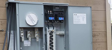 new residential electrial panel box repairs